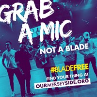 preview image for 'Grab a mic not a blade' digital image